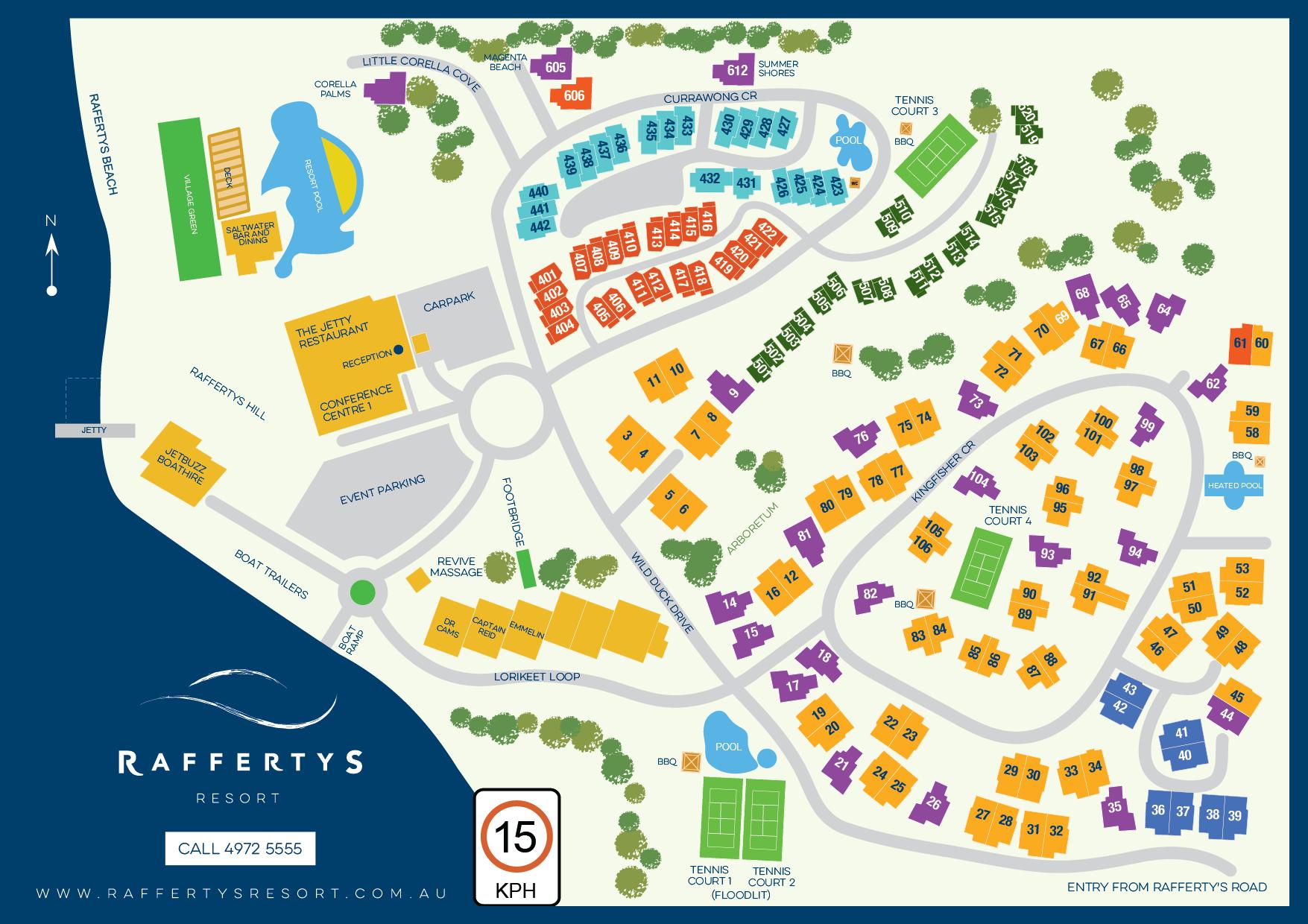 Resort Facilities and Map